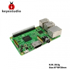 Original UK Raspberry Pi 3 Model B 1GB_RAM ARMV8_ARM7 BCM2837_64bit 1.2GHz Quad-core/with WiFi&Bluetooth (NO acrylic BOX)