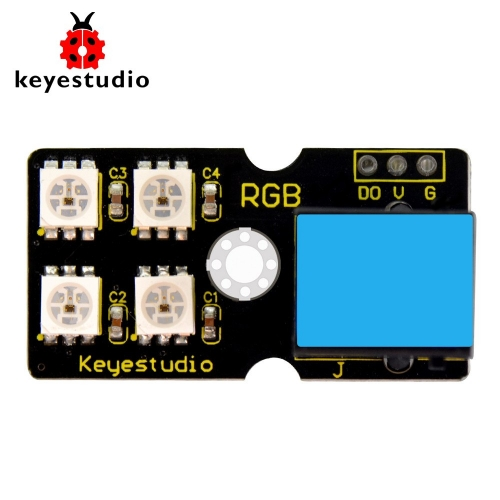 Keyestudio EASY plug 2812 2x2 full-color RGB Module for Arduino