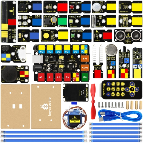 2019 NEW!  keyestudio EASY plug Ultimate Starter Kit for Arduino STEM EDU