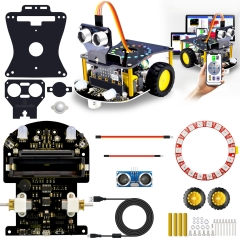 2019New! KEYESTUDIO Micro:bit Mini Smart Robot Car V2.0 (No Micro:bit Main Board)