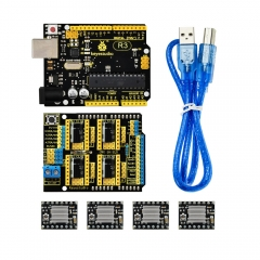 Free shipping!Keyestudio CNC kit for arduino CNC Shield V3+ R3+ 4pcs A4988 driver /GRBL compatible