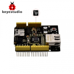 Keyestudio W5500 Ethernet Shield Ethernet Control Expansion Board for Arduino (Without POE)