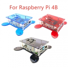 Black/Blue/Red Acrylic Case Box  Wall-mounted for Raspberry Pi 4B/ Mountable Cooling F(No Raspberry Pi 4B Board )an